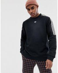 Ay7713 Adidas Originals Itasca Sweatshirt Black In Men Crew Lyst For 8wmNPyv0nO