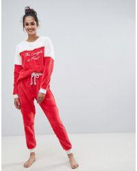 Chelsea Peers The Snuggle Is Real Fluffy Pyjama Set