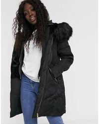 Oasis Long Padded Coat - Black