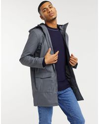 French Connection Coated Hooded Fleece Lined Parka Coat - Grey