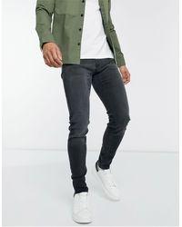 Hollister Jeans super skinny nero slavato