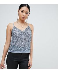 ASOS - Asos Design Petite Cami Top With Sequin Embellishment - Lyst