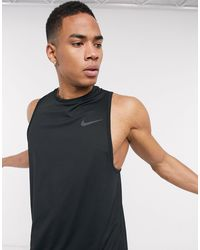 Nike Camiseta sin mangas en negro Hyper Dry