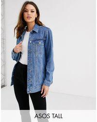 ASOS Джинсовая Выбеленная Куртка - Синий