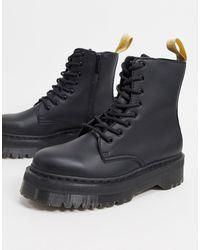 Dr. Martens Черные Ботинки Из Искусственной Кожи На Платформе -черный