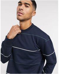 New Look Stripe Sweat - Blue