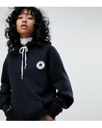 Converse - Hoodie With Back Print In Black - Lyst