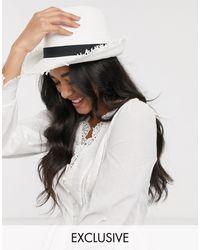 South Beach Эксклюзивная Белая Соломенная Шляпа -белый