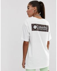 Columbia North Cascades T-shirt In Shadow Print - White