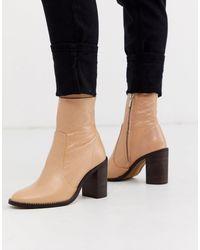 River Island Botas estilo calcetín - Neutro
