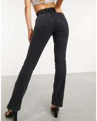 ASOS High Rise '70's' Stretch Flare Jeans - Black