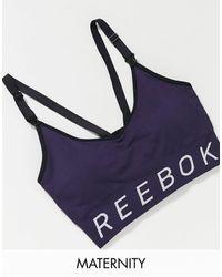 Reebok Reggiseno da allenamento verde-azzurro - Nero