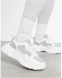 Missguided Faux-suede Chunky Trainer - Grey