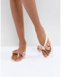 Ted Baker - Suszie White Flip Flops - Lyst