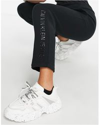 Calvin Klein Shiny Logo Trousers - Black