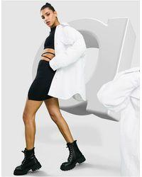 ASOS Veste chemise en nylon technique avec doublure matelassée - Blanc
