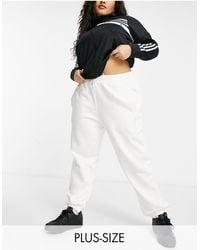 adidas Originals 'cosy Comfort' Plus Oversized Cuffed Trackies - White