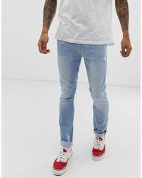 Burton Skinny Jeans In Bleach Wash - Blue
