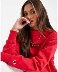Champion Boxy High Neck Sweatshirt - Red