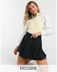 Daisy Street Плиссированная Теннисная Мини-юбка -черный