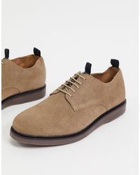 H by Hudson Zapatos con cordones en ante marrón Barnstable - Neutro