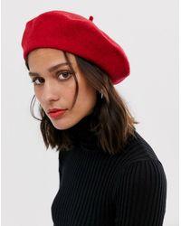 ASOS Wool Beret - Red