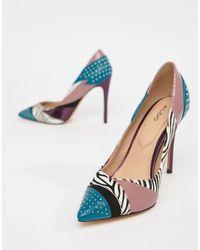 ALDO Wicilidia Mix Print Court Shoes - Green
