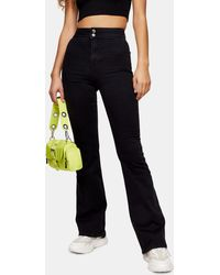 TOPSHOP Skinny Flared Jeans Met Stretch - Zwart