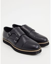 Truffle Collection Casual Monk Strap Shoes - Black