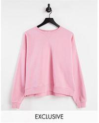 Stradivarius Organic Cotton Crew Neck Sweatshirt - Pink