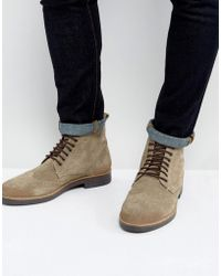 Frank Wright | Brogue Boots Taupe Suede | Lyst