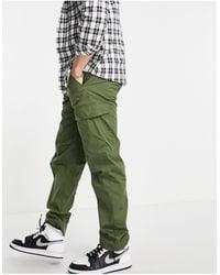 SELECTED Pantalon cargo léger - Kaki - Vert