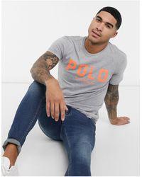 Polo Ralph Lauren Large Neon Flock Logo T-shirt Custom Regular Fit - Black