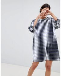 Kowtow - Oversized Striped T-shirt Dress In Organic Cotton - Lyst