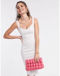 Vesper Светло-серое Облегающее Платье -серый - Многоцветный