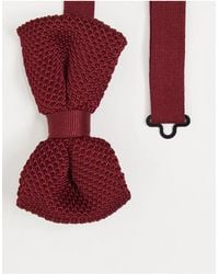 ASOS Knitted Bow Tie - Red