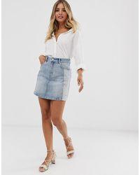 Sass & Bide Minigonna di jeans con strass - Blu