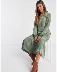 B.Young Tie Dye Boho Blouse - Green