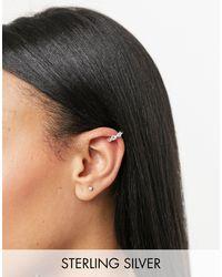 ASOS Sterling Silver Ear Cuff - Metallic