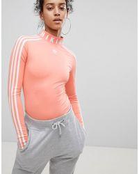 adidas Originals X Pharrell Williams Women/'s Hu Hiking Bodysuit 3 Stripe Body