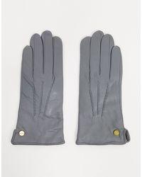 Barneys Originals - Светло-серые Кожаные Перчатки Barney's Originals-серый - Lyst