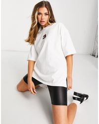 Tommy Hilfiger T-shirt oversize con logo, colore bianco
