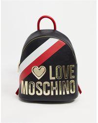 Love Moschino - Черный Рюкзак С Большим Логотипом -черный Цвет - Lyst