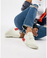 e66d06390d0262 Lyst - adidas Originals Originals Nmd R2 Sneakers In White And Gray ...