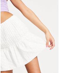 NA-KD Co-ord Embroidered Mini Skirt - White