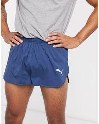 PUMA Pantalones cortos para correr en azul marino