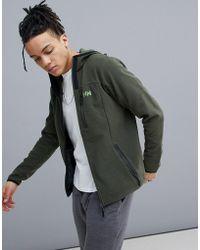 Helly Hansen - Vanir Fleece Mid Layer Hooded Jacket In Khaki - Lyst
