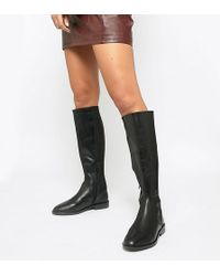 ASOS - Wide Fit Cadence Leather Riding Boots - Lyst