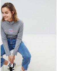 """M.i.h Jeans Polo con scritta """"Heaven"""