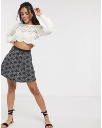 ASOS Elasticated Waist Flippy Mini Skirt - Multicolor